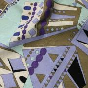 PAROLARI EMILIO PUCCI パープル×グレー×ライトブルー他 (A901-1532A_B) / Purple Cotton-Linen