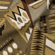 PAROLARI EMILIO PUCCI ブラウン×アイボリー他 (A901-1532A_E) / Brown Cotton-Linen