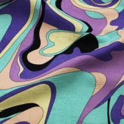 PAROLARI EMILIO PUCCI パープル×オレンジ×エメラルドグリーン他 プッチ柄(A901-1533A_A) / Purple & Blue Cotton-Linen