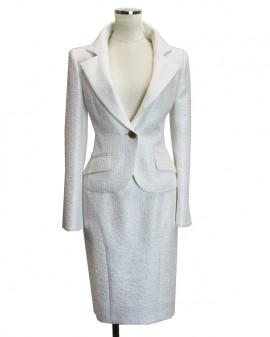 レディーススーツ スカートスーツ ホワイト