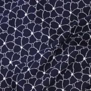 ファンシーブッチャーストレッチ ネイビー花柄 / Navy Polyester Floral(KKP7810 D 59-A)