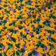 STUCCHI オレンジ×パープル フラワー柄 / Orange Stretch Nylon Floral(3310-11)