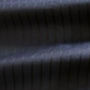 ネイビー ストライプ(ブラック)/  Navy Wool Mix Stripe (46618-1)