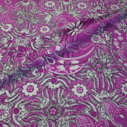 NRPHILA パープル×ホワイト フラワー柄 / Purple Stretch Nylon Floral(8310-15)