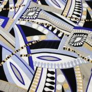 PAROLARI EMILIO PUCCI ブルー×オレンジ プッチ柄 / Cotton  Blue & Orange (9301-17)