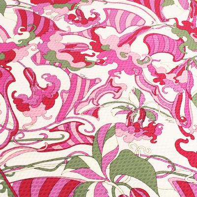 PAROLARI EMILIO PUCCI ピンク葉 プッチ柄 / Cotton  Pink Leaves (9301-20)