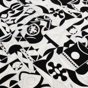 PAROLARI EMILIO PUCCI 白×黒 プッチ柄 / Cotton  White & Black (9301-22)