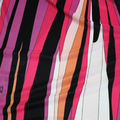 PAROLARI EMILIO PUCCI パープル×ブラック×ピンク他 プッチ柄 / Purple Stretch Polyester (PE-88-8315)