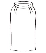 タイトスカート後ろベント(DK-2) / Pencil Skirt with Vent