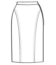バックフリルタイトスカート(DK-7) / Pencil Skirt with Frill