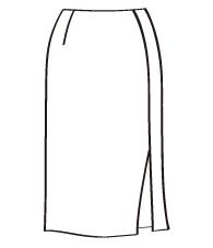 タイトスカート前後スリット付(DK-8) / Pencil Skirt with Slits