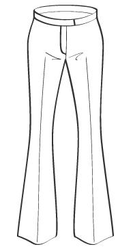 フレアパンツ ポケット&ループなし(DP-1) / Boot Cut
