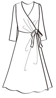 カシュクールフレアー(MCOP-4) / Flared Wrap Dress