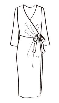 カシュクールタイト(MCOP-5) / Fitted Wrap Dress