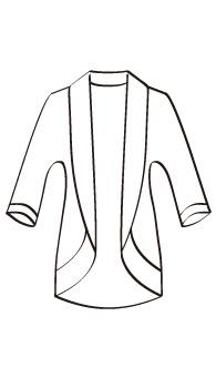 ショールカラーカーディガン(MC-OT-JK-2) / Cardigan with Shawl Collar
