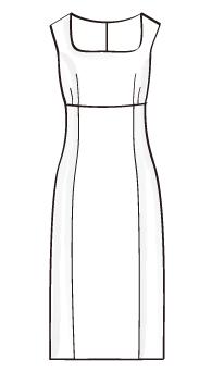ハイウエスト切替ノースリーブワンピース(OP-5) / Sleeveless High Waist Dress