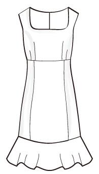 ワンピースフリル付(OP-9) / One-Piece Dress with Frill