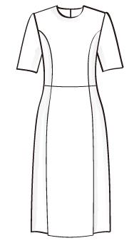 袖付きフレアワンピース(OP-S-1) / Flared Dress