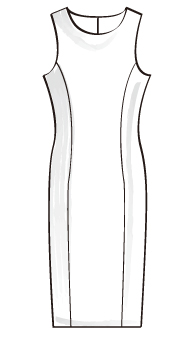 Uネックタイトワンピース(TCOP-1) / U-Neck Fitted Dress
