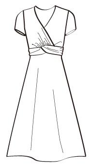 ドールワンピース(MC-OP-1) / V Neck A-Line Dress