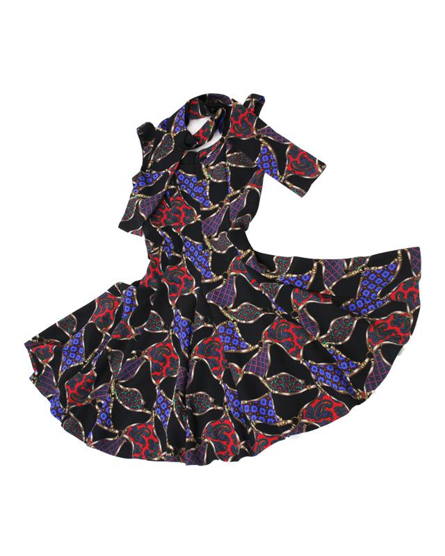 サーキュラーワンピース<br /> Circular Dress in Paisley print