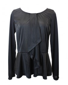 ペプラム フリルカットソー PAROLARI EMILIO PUCCI<br />Black Peplum Top made of PAROLARI EMILIO PUCCI fabric