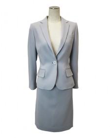 スカートスーツ ライトグレー<br />Light Gray Polyester Jacket & Skirt