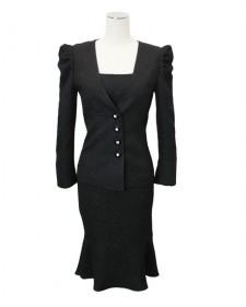 ワンピーススーツ ブラック<br />Black Jacket & Dress