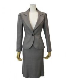 スカートスーツ グレードット<br />Gray Dotted Jacket & Skirt