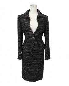 スカートスーツ ブラックツイード<br />Tweed Jacket & Skirt