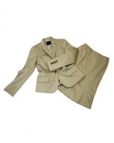 スカートスーツ ベージュ ストライプ<br />Beige Stripe Jacket & Skirt