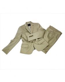 パンツスーツ ベージュ ストライプ<br />Beige Stripe Jacket & Pants