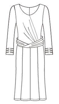 ワンピース8枚はぎフレアー(MC-OP-12) / 8 panels Flare Dress