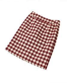 スカート ドビーチェック<br />Red Checked Skirt
