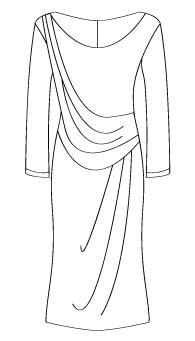 ネックドレープワンピース(MC-OP-13) / Draped Dress