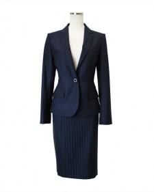 スカートスーツ ネイビー ストライプ<br />Navy Stripe Jacket & Skirt
