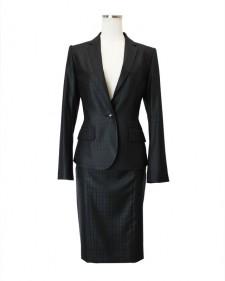 スカートスーツ ブラック チェック<br />Black Plaid Jacket & Skirt