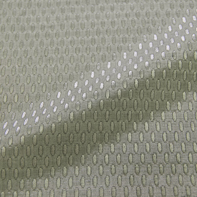 MON TRESOR ライトグレー シルク混オーバルドット (9103-10)<br />Light Gray Silk Blend Fabric Oval Dots
