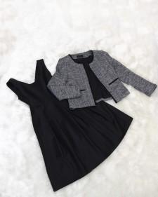 ボレロジャケット&ノースリーブフレアワンピース<br />Bolero & Sleeveless Flared Dress