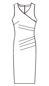 ワンピースウエストサイドタック(OP-10) / Draped Tank Dress