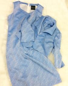 ワンピーススーツ ブルー<br />Blue Jacket & Dress