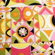 PAROLARI EMILIO PUCCI ピンク×グリーン プッチ柄 / 100% Cotton Pink & Green Parolari Emilio Pucci Fabric(9301-29)