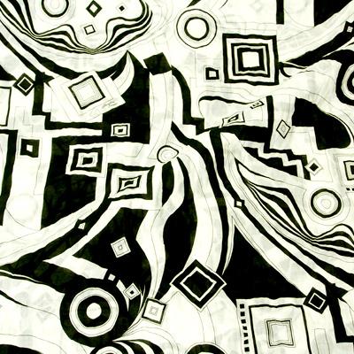 PAROLARI EMILIO PUCCIエミリオプッチ薄手サッカー生地幾何学模様ホワイト×ブラック/Cotton 100% Seersucker, Geometric Print, White×Black