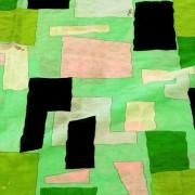 PAROLARI EMILIO PUCCIエミリオプッチ薄手サッカー生地幾何学模様グリーン×ブラック×ライトピンク/100% Cotton Seersucker, Geometric Print, Green×Black×Pink