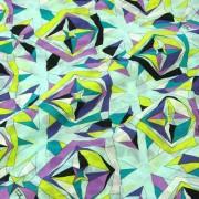 PAROLARI EMILIO PUCCIエミリオプッチ薄手サッカー生地幾何学模様ライトブルー×パープル/100% Cotton Seersucker, Geometric Print, Light Blue×Purple