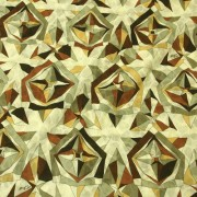 PAROLARI EMILIO PUCCIエミリオプッチ薄手サッカー生地幾何学模様ブラウン×ベージュ/Cotton 100% Parolari Emilio Pucci Fabric in Geometric Print Brown×Beige