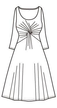ウエストねじりワンピース(mcop-14)/Dress with twisted waist