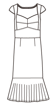 キャップスリーブフリルワンピース(MC-OP-16)/Cap sleeve frill Dress