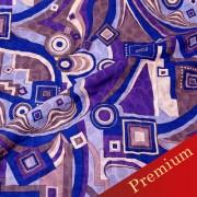 PAROLARI EMILIO PUCCIエミリオプッチ薄手サッカー生地幾何学模様ブルー×パープル×ブラウン/Sucker Cotton100% geometry Blue×Purple×Brown