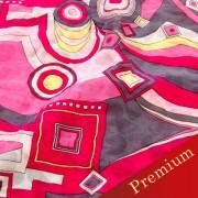 PAROLARI EMILIO PUCCIエミリオプッチ薄手サッカー生地幾何学模様ピンク×グレー/Sucker Cotton100% geometry Pink×gray